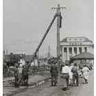 Минск электрики за работой танк  Т- 34  Комаровка 1941