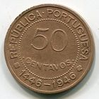 ГВИНЕЯ БИСАУ - 50 СЕНТАВО 1946 РЕДКАЯ