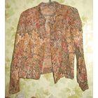 Костюм женский ретро цветочный с люриксом р.48-50