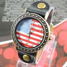 Стильные унисекс часы с изображением американского флага. Новые, в Минске!