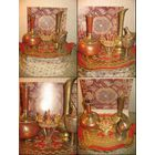 Идентичный мусульманский набор, жестяной, состоящий из 4-рёх хорошо дополняющих друг друга предметов, внимание: шпаги, что на фото были проданы отдельно.
