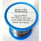 Припой с флюсом Lega SN60 1mm, производство Италия Omodeo A&S  Metalleghe S.r.l.