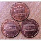 1 цент США 2004 2008 2010 3 штуки