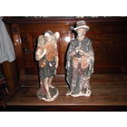 Статуэтки,католические святые.Св.Губерт(Хуберт) и И.Христос с ягненком.
