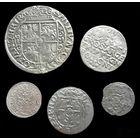 4 МОНЕТЫ РП 1621 г. (ОРТ, 3 ГРОША, ПОЛТОРАК, СОЛИД, ДВУДЕНАРИЙ) СИГИЗМУНД III (1587-1632) - ПО БЛИЦУ ПОЧТОЙ БЕСПЛАТНО !