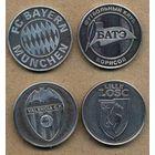 Набор памятных медалей. Футбол. БАТЭ, LOSC, Valencia, Bayern. медаль