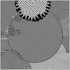 """Cовременная графика: иллюзия """"КОНЦЕНТРИКА"""" (имитация рисунка тушью)"""
