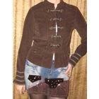 Пиджак женский штроксовый коричневый