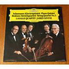 Schumann / Brahms. Piano Quintet / String Quartet No.3 - Lasalle Quartet & James Levine LP, 1981