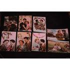 """Сборная серия старинных открыток, по теме: """"ЛЮБОВЬ в розовом цвете"""" - моя коллекция до 1945 года - антикварная редкость - цена за всё, что на фото, по отдельности пока не продаю!"""