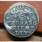 Трояк 1583 , Вильно , Баторий, три гроша