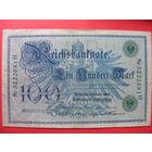 100 марок 1908 года II Рейх (зеленая печать)