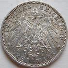 25. Германия. Бавария 3 марки 1909 год, серебро.