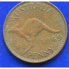 Австралия 1 пенни 1949, Georg VI