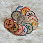 Орден Тамплиеров 13 монет  коллекция (позолоченные и посеребряные). распродажа