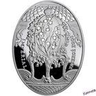 2 доллара 2010 г. Ниуэ-Фаберже Яйцо Ландыши Ag