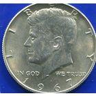 США 1/2 доллара 1967 , серебро