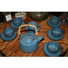 Керамика глазурированная Япония комплект  6 шт. Старая работа чайный сервиз
