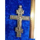 Старинный латунный крест.