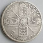 Великобритания, 1 флорин (2 шиллинга) 1921 года, KM# 817a, George V, Ag 500/ 11,3104 грамма, РАСПРОДАЖА