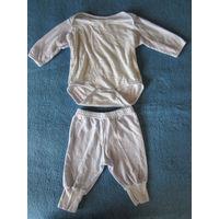 Комплект (боди+штанишки) на малыша, 3-6 мес.