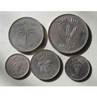 Израиль, Лот из 5 разных монет 25,50,100 и 250 Прута  (10)