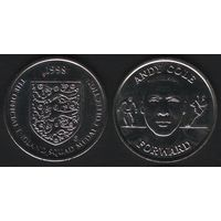 Official England Squad. Forward. Andy Cole -- 1998 - The Official England Squad Medal Collection (f01)