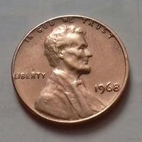 1 цент США 1968 г.