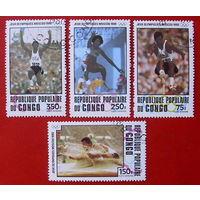 Конго. Спорт. ( 4 марки  ) 1980 года.