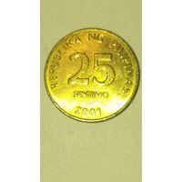 Филипины 25 сентимов 2001