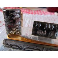 Запонки стекло в коробке комплект СССР