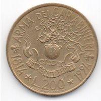 200 лир 1994 Италия 180 лет карабинерам