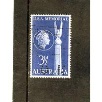 Австралия.Ми-253.Американская дружба. Серия: Австралия & U.S.A. Мемориал битвы в Коралловом море.1955.