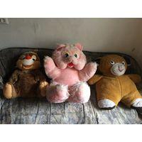 Мягкие Игрушки большие два медведя и енот Цена за все вместе По отдельности не продаётся