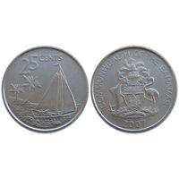G Багамские острова 25 центов 2007 г. UNC из рола