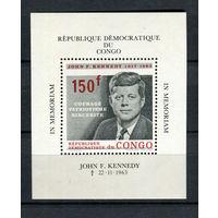 Конго - 1963 - Кеннеди - (есть незначительные пятна на клее) - [Mi. bl. 6] - 1 блок. MNH.