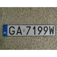Автомобильный номер Польша GA7199W