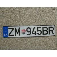 Автомобильный номер Словакия ZM945BR