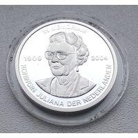 Королева Юлиана 1909-2004, Тираж-5555шт, Посеребрение, Документ 2004 7-15-5