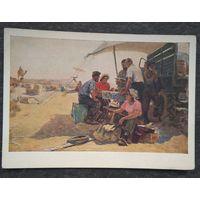 Клычев И. В пустыне Кара-Кум. Соцреализм. 1955 г. Чистая