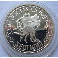 Португалия 250 эскудо 1988 XXIV летние Олимпийские Игры, Сеул 1988 - серебро 0,925, пруф, пореже!