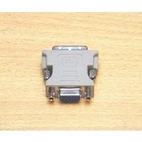 Переходник DVI-A - VGA (серый цвет)