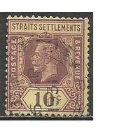 Стрейтс и Сетлментс. Король Георг V. 1922г. Mi#181.
