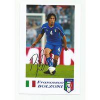 Francesco Bolzoni(Италия). Живой автограф на фотографии.