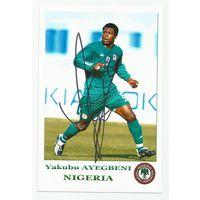 Yakubu Ayegbeni(Нигерия). Фотография с живым автографом.