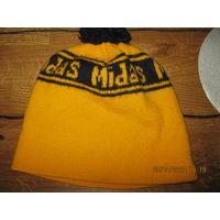 Винтаж зимняя шапка помпон лыжная Midas