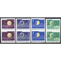 Луна Албания 1964 серия из 4-х марок в сцепке