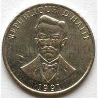 Гаити 20 сентиме 1991 год. Шарлемань Перальт (XF-aUNC)