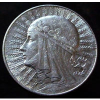 5 злотых 1934 (2) отличное коллекционное состояние