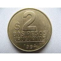 Уругвай 2 песо 1994 г.